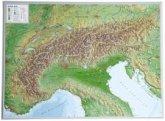 Alpen, Reliefkarte, Groß; Alps