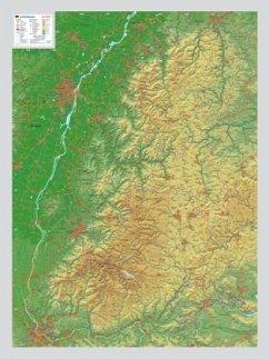 Schwarzwald, Reliefkarte, groß