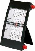 rido Tischkalender 2020, 3-Monatskalender Drehknopf rot