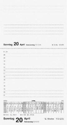 rido Tischkalender 2019 merker PVC schwarz