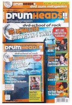 DrumHeads!! - DVD-School of Rock, 1 DVD + Notenheft