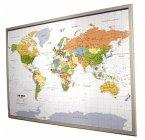 Politsche Weltkarte auf Kork-Pinnwand zum Aufhängen