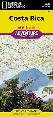 National Geographic Adventure Map Costa Rica - National Geographic Maps - Adventure
