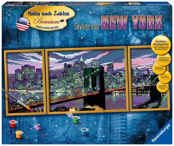 Ravensburger 28951 Skyline Von New York Mnz Malen Nach Zahlen