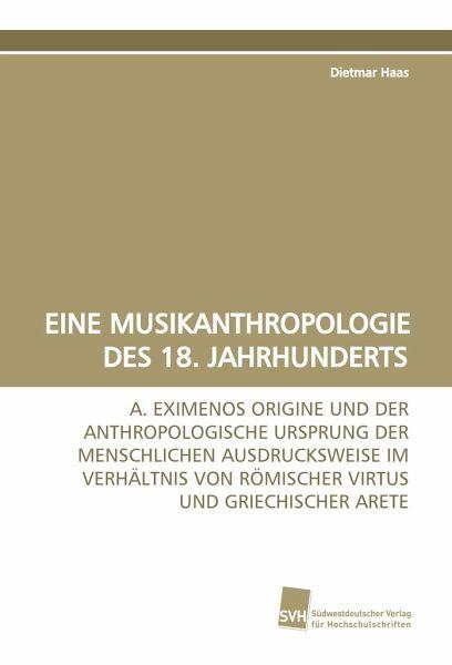 Eine musikanthropologie des 18 jahrhunderts von dietmar for Dietmar haas