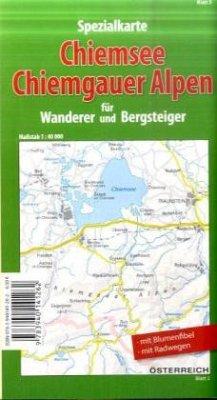 Spezialkarte Chiemsee, Chiemgauer Alpen für Wanderer und Bergsteiger