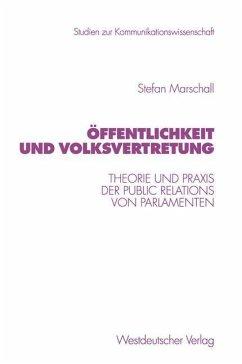 Öffentlichkeit und Volksvertretung - Marschall, Stefan