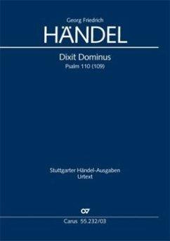 Dixit Dominus HWV 232, Klavierauszug - Händel, Georg Friedrich