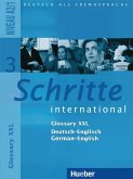 Schritte international 3. Niveau A2/1. Glossar XXL Deutsch-Englisch German-English