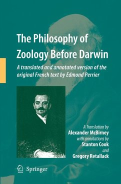The Philosophy of Zoology Before Darwin - McBirney, Alex;Cook, Stanton