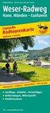 PublicPress Radwanderkarte Weser-Radweg. Hann. Münden - Cuxhaven. Leporello