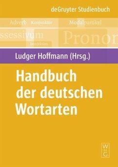 Handbuch der deutschen Wortarten - Hoffmann, Ludger (Hrsg.)