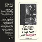 Fünf Fälle für Maigret, 4 Audio-CDs