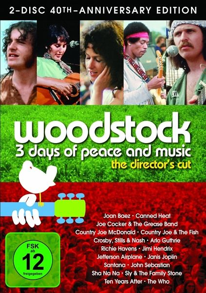 Woodstock 3 Days Of Peace Music Special Edition 2 Dvds Auf