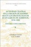Actividad teatral en la región de Madrid según l - Estudio y documentos : Documents 250-422, appendices etc.