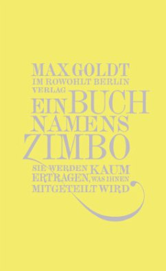 Ein Buch namens Zimbo - Goldt, Max