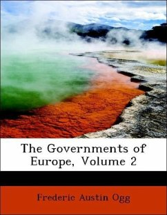 The Governments of Europe, Volume 2