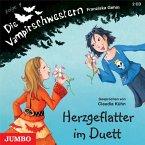 Herzgeflatter im Duett / Die Vampirschwestern Bd.4, 2 Audio-CDs