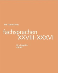 fachsprachen XXVIII-XXXVI - Stolterfoht, Ulf