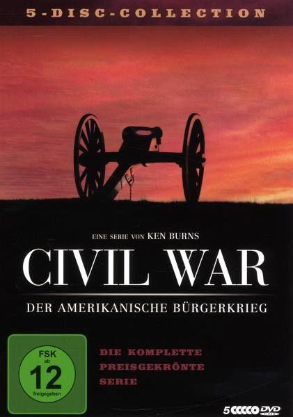 civil war der amerikanische b rgerkrieg 5 dvds auf dvd. Black Bedroom Furniture Sets. Home Design Ideas