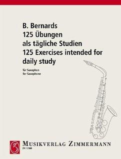 125 Übungen als tägliche Studien für Saxophon