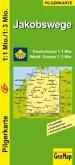 GeoMap Karte Jakobswege Deutschland, Westliches Europa