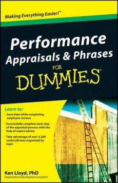 Performance Appraisals & Phrases for Dummies - Lloyd, Ken