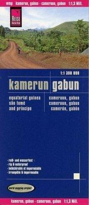Reise Know-How Landkarte Kamerun, Gabun; Cameroon, Gabon; Cameroun, Gabon; Camerún, Gabón