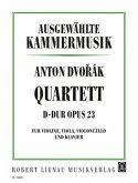 Klavierquartett D-Dur op. 23, Violine, Viola, Violoncello und Klavier, Partitur und Stimmen