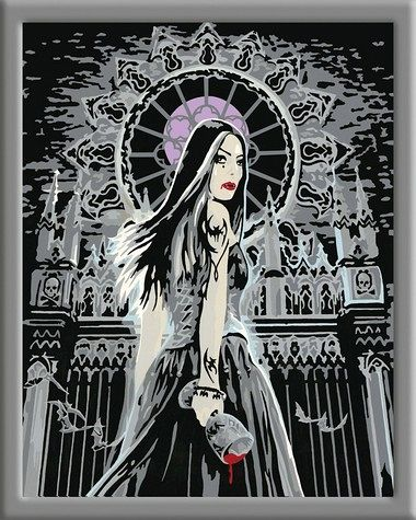 Malen Nach Zahlen Gothic Siren