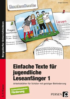 Einfache Texte für jugendliche Leseanfänger - Sanchez, Jürgen
