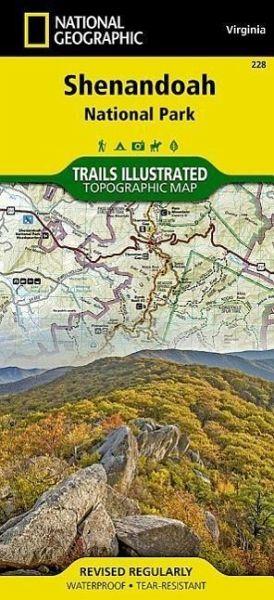 National Geographic Trails Illustrated Map Shenandoah National Park ...