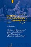 """Schutz des """"Know-how"""" gegen ausspähende Produktanalysen (""""Reverse Engineering"""")"""