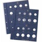 VISTA Ergänzungsblätter Blanko für VISTA Classic Euroalbum für Kursmünzensätze