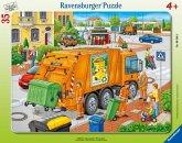 Ravensburger 06346 - Müllabfuhr Rahmenpuzzle, 35 Teile Puzzle