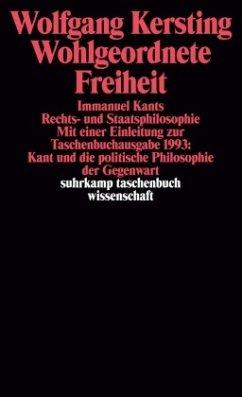 Wohlgeordnete Freiheit - Kersting, Wolfgang