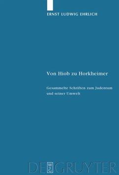 Von Hiob zu Horkheimer - Ehrlich, Ernst Ludwig
