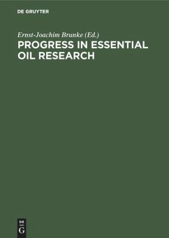 Progress in Essential Oil Research