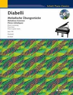 Melodische Übungsstücke op.149, Klavier (4-händig), m. Audio-CD - Diabelli, Anton