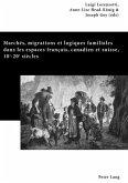 Marchés, migrations et logiques familiales dans les espaces français, canadien et suisse, 18<SUP>e</SUP>-20<SUP>e</SUP> siècles