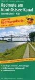 PublicPress Leporello Radtourenkarte Radroute am Nord-Ostsee-Kanal