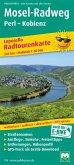 PublicPress Leporello Radtourenkarte Mosel-Radweg Perl - Koblenz, 16 Teilktn.