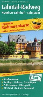 PublicPress Leporello Radtourenkarte Lahntal-Ra...