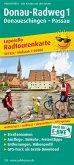 PublicPress Leporello Radtourenkarte Donau-Radweg. Donaueschingen - Passau