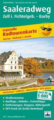 PublicPress Leporello Radtourenkarte Saale-Radwanderweg, Zell i. Fichtelgeb. - Barby