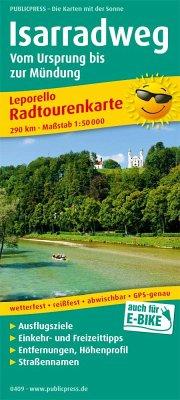 PUBLICPRESS Leporello Radtourenkarte Isarradweg...