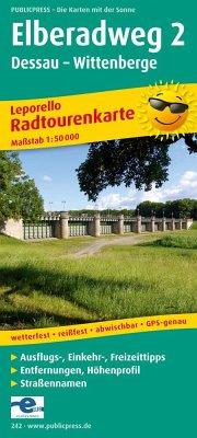 PublicPress Leporello Radtourenkarte Elberadweg 2, Dessau - Wittenberge