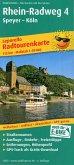 PublicPress Leporello Radtourenkarte Rhein-Radweg 4, Speyer - Köln