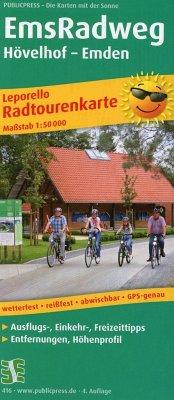 PublicPress Leporello Radtourenkarte EmsRadweg,...