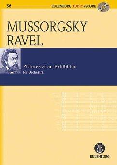 Bilder einer Ausstellung für Orchester, Instrumentation Ravel, Studienpartitur u. Audio-CD